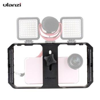 Ulanzi U-Rig Pro Smartphone Handheld Video Rig w/3 Shoe Mount Film Making Case Bracket Stabilizer for iPhone Samsung all Phones