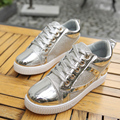 2016 New Fashion Women Casual Rivets Inside Height Increasing Round Toe Shoes Wedges Basket Femme Tenis Feminino Trainers