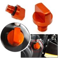 BJ ECP KT003 New Motorcycle Accessories CNC Orange Aluminum Engine Magnetic Oil Drain Plug For KTM