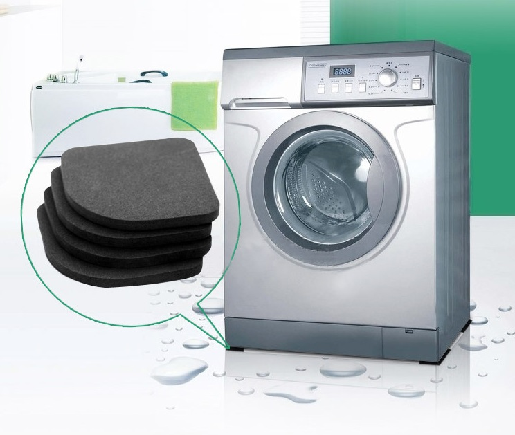 4pcsnew Washing Machine Anti Vibration Pad Shock Proof Non Slip Foot Feet Tailorable Mat Refrigerator Floor Furniture Protectors To Be Renowned Both At Home And Abroad For Exquisite Workmanship Furniture Skillful Knitting And Elegant Design