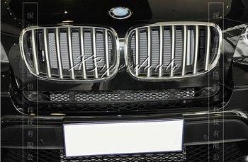 2 PCS Chrome ABS Plastik Grill Grille Potong Cover Untuk BMW X5 2008-2013