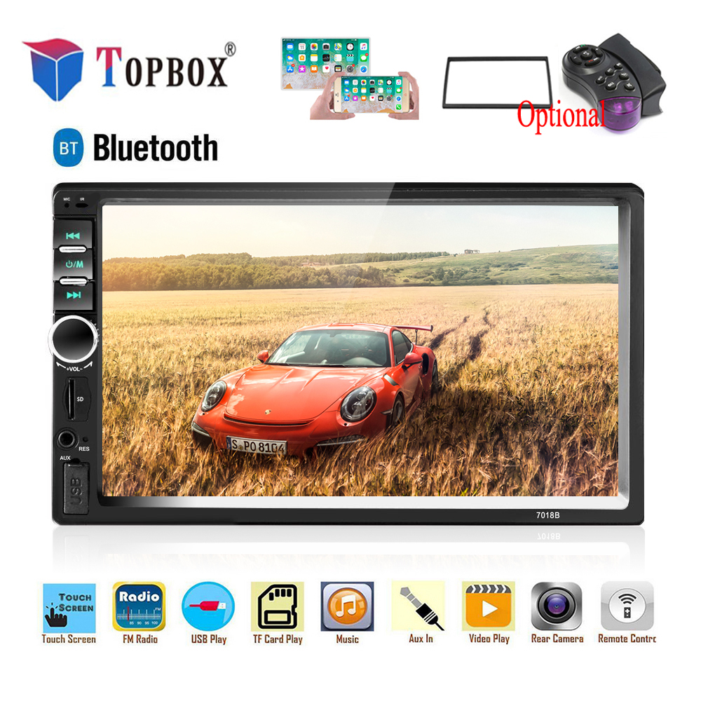 "Topbox 2 Din Car Radio 2din Multimedia Player 7"" HD Autoradio USB AUX Bluetooth FM Auto Stereo Support Android Mirror Link Audio"