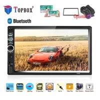Topbox 2 Din Car Radio 2din Multimedia Player 7 HD Autoradio USB AUX Bluetooth FM Auto Stereo Support Android Mirror Link Audio