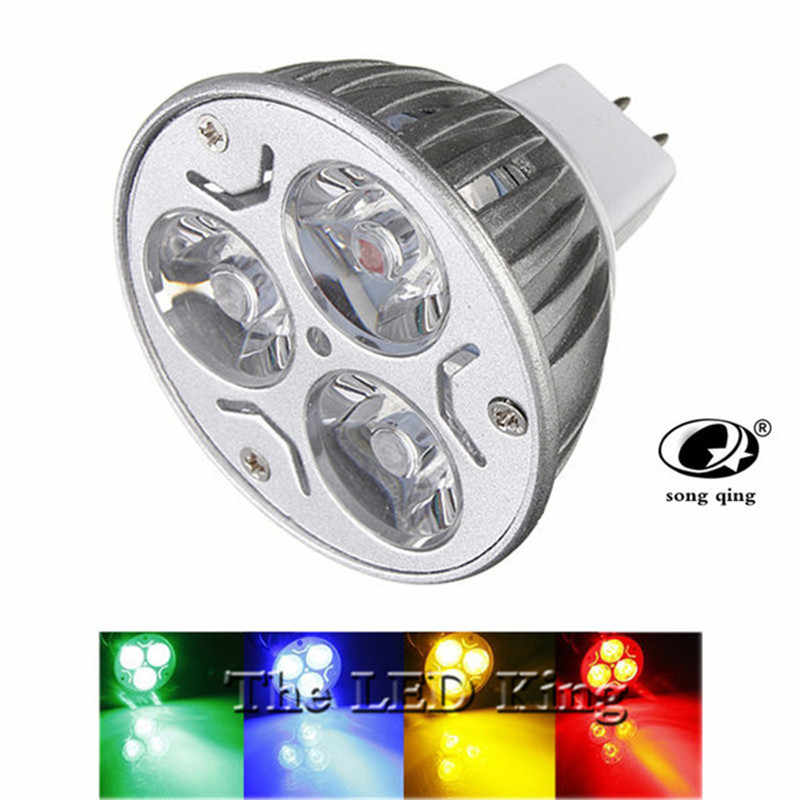 High power CREE 9w 12w 15w 220V MR16 12V Led Spotlights RED BULE GREEN yellow Warm/ Cool white GU 10 mr 16 LED lamp light