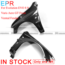 For Evolution EVO 8 9  Carbon Fiber Varis Aero GT Front Vented Fender Mitsubishi Glossy Bumpers Body Kit