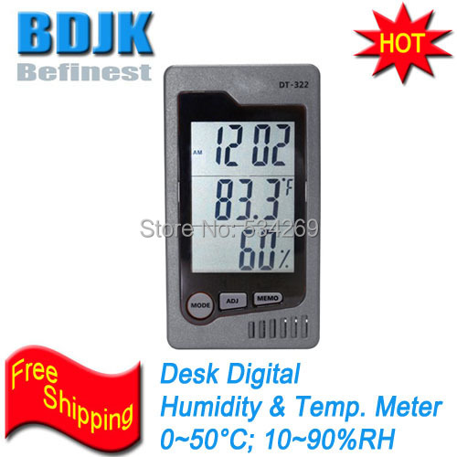 Desktop Digital Hygrometer & Thermometer Indoor C/F Humidity and Temperature Meters digital indoor air quality carbon dioxide meter temperature rh humidity twa stel display 99 points made in taiwan co2 monitor