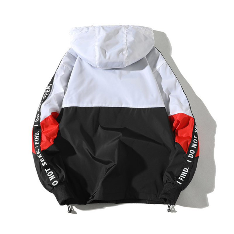 Mannen Anorak Jassen Fashion Mens Harajuku Hip Hop Street Wear Jassen Mannen Casual Trui Hooded Trainingspak Bomber Jassen