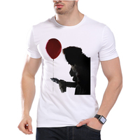 Stephen King S It T Shirt Horror Cult Film Pennywise The Clown Obey Design Float Letter