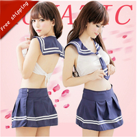 Hot Student Sexy Costumes For Women Japanese School Uniform Pure Schoolgirl Costume Blue Sexy Lingerie