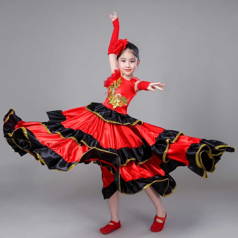 7b69bfcd106d Detail Feedback Questions about Spanish Costume Girl Long Red ...