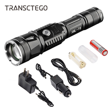 Police Flashlight T6 Rechargeable LED Outdoor 18650 Battery Torch Military Use Long Range Light Riding Hunting Torch  Flashlight led rechargeable flashlight pocket xml t6 linterna torch 1000 lumens 18650 battery outdoor camping powerful led flashlight