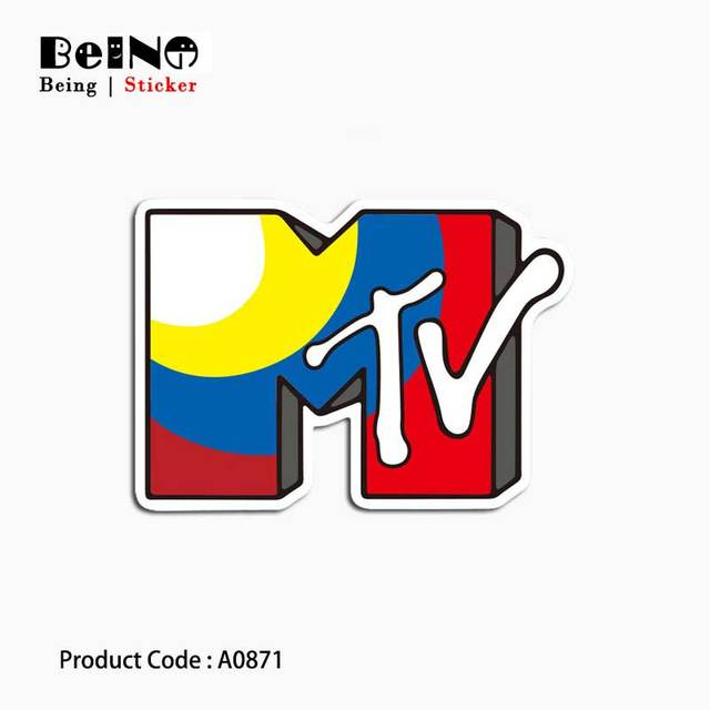 MTV Music Television Video Logo Sticker Sign Waterproof Suitcase Laptop Guitar Luggage Skateboard Toy Lovely A0871 Stickers QY31