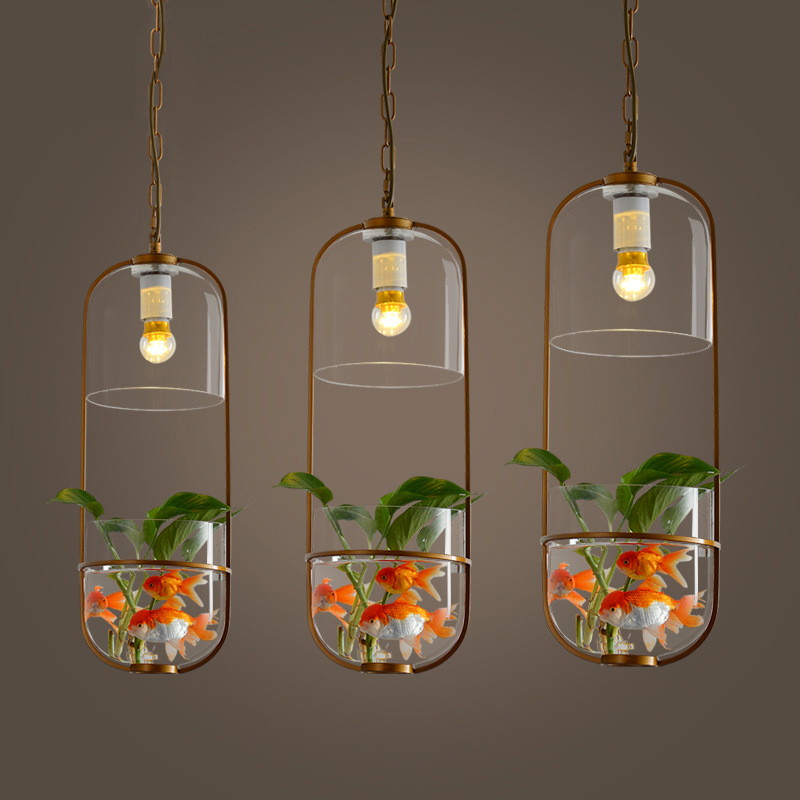 Nordic Restaurant Iron Glass Chandelier Creative Simple Cafe Bar Counter Bedroom Study Plant Decoration Lamp Free Shipping 1 3 heads nordic simple restaurant chandelier creative cafe wind chimes lamp iron art dinning room lamp bar light free shipping