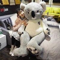 Мягкие сливочное игрушки огромный 140 см Прекрасный мультфильм коала плюшевые игрушки Мягкая кукла обниматься подарок на день рождения w0720