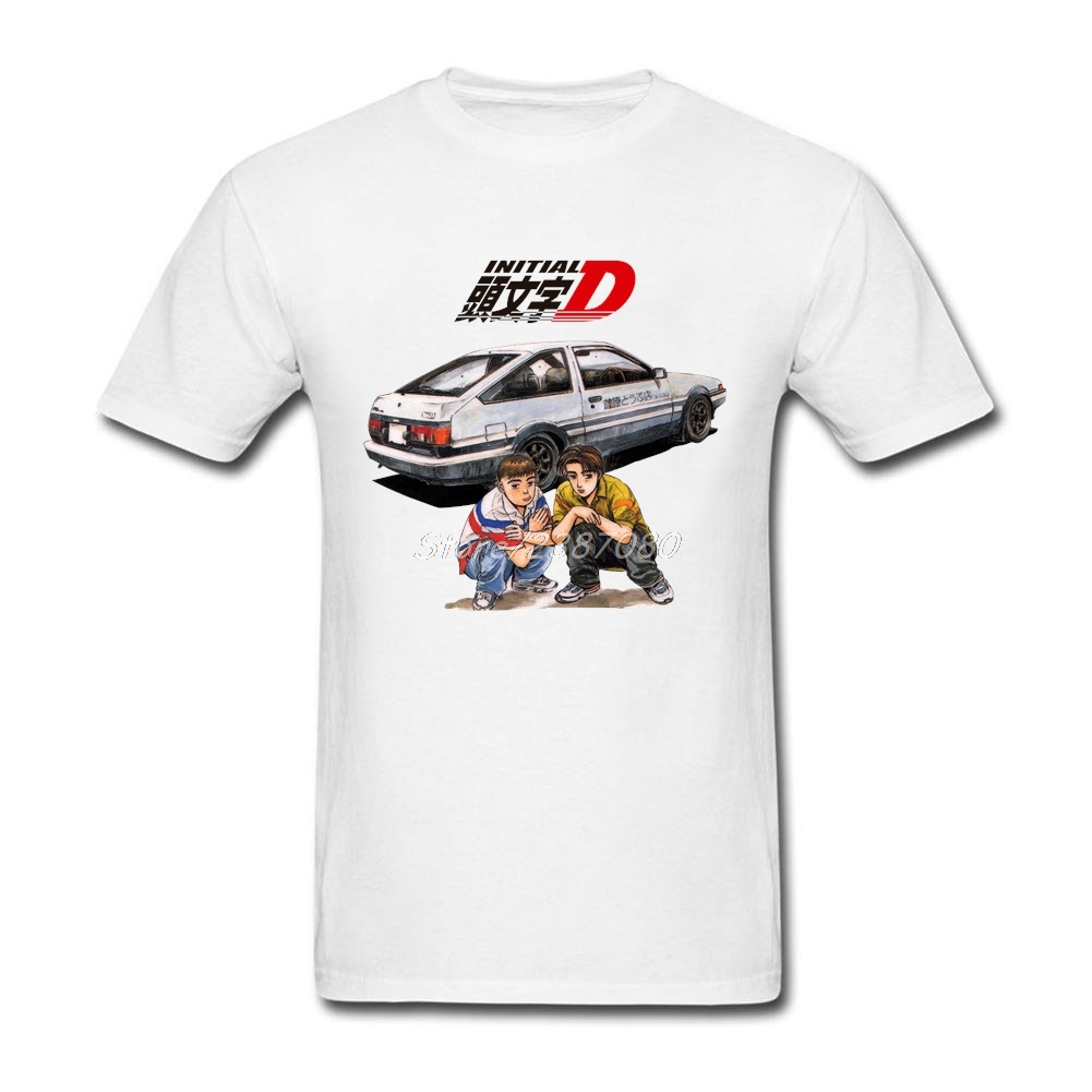 Youth Comics Initial D T Shirt Short Sleeve Custom Men's