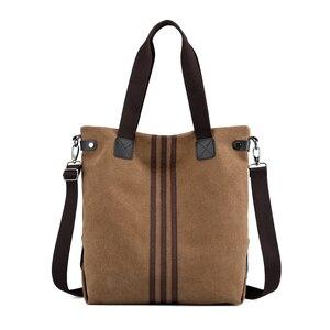 Image 5 - Nieuwe Eenvoudige Grote Capaciteit Ontwerp Canvas Vrouwen Messenger Bag Mode Meisjes Handtas Schoudertas Dagelijkse Boodschappentas