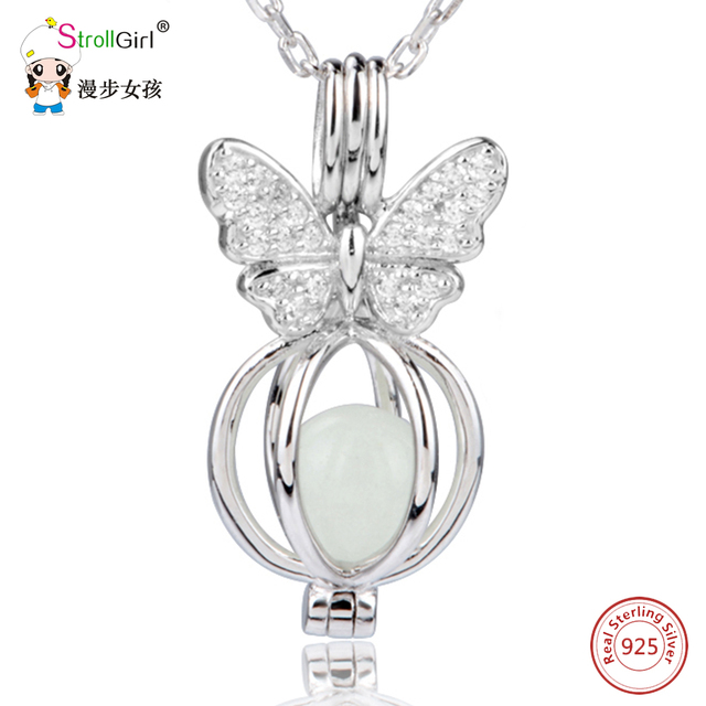 2018new arrival 925 sterling silver fluorescence butterfly shape 2018new arrival 925 sterling silver fluorescence butterfly shape locket cage pendant mountings can open jewelry gift mozeypictures Image collections