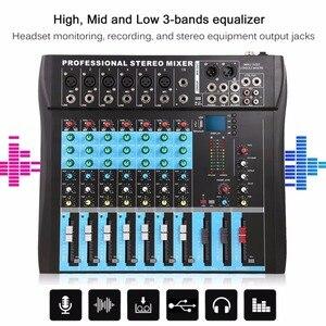 Ct8 8 mixer estéreo profissional, 8 canais usb estúdio ao vivo som console de rede dispositivo de âncora processador de efeito voz