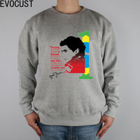 F1 champion Ayrton Senna of Brazil's top male men Sweatshirts Thick Combed Cotton