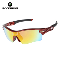 ROCKBROS Polarized Cycling Glasses Sports Sunglasses Goggles sport eyewear bycicle bicycle glasses for mountain bike 5 lenses