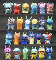 24 Unids/lote Slugterra Figuras de Anime Mini Slugterra Figuras de Acción PVC Figure Dol y Babosas Fuego De Mu Ecas Lesmas Juguete Brinquedo juguetes