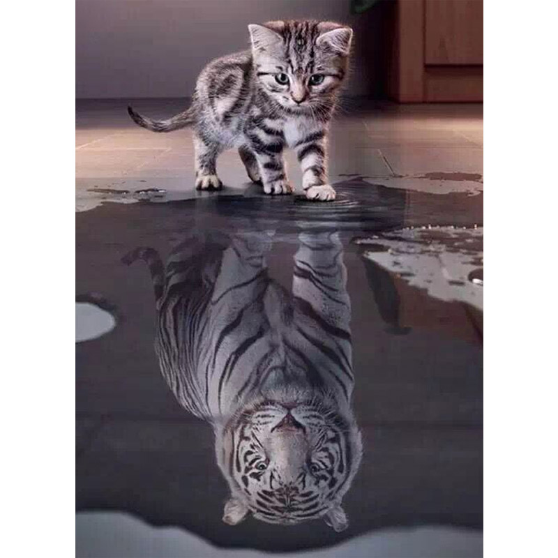 [Jeu] Association d'images - Page 37 5D-diy-diamond-painting-Diamond-Embroidery-mosaic-pattern-Cross-Stitch-kits-Cat-Shadow-tiger-picture-arts