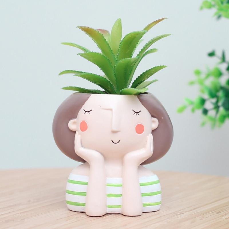 HTB1ZGM2a4YaK1RjSZFnq6y80pXaG - Succulent Flower Planter Plant Pot Girl Flower Planter Flowerpot