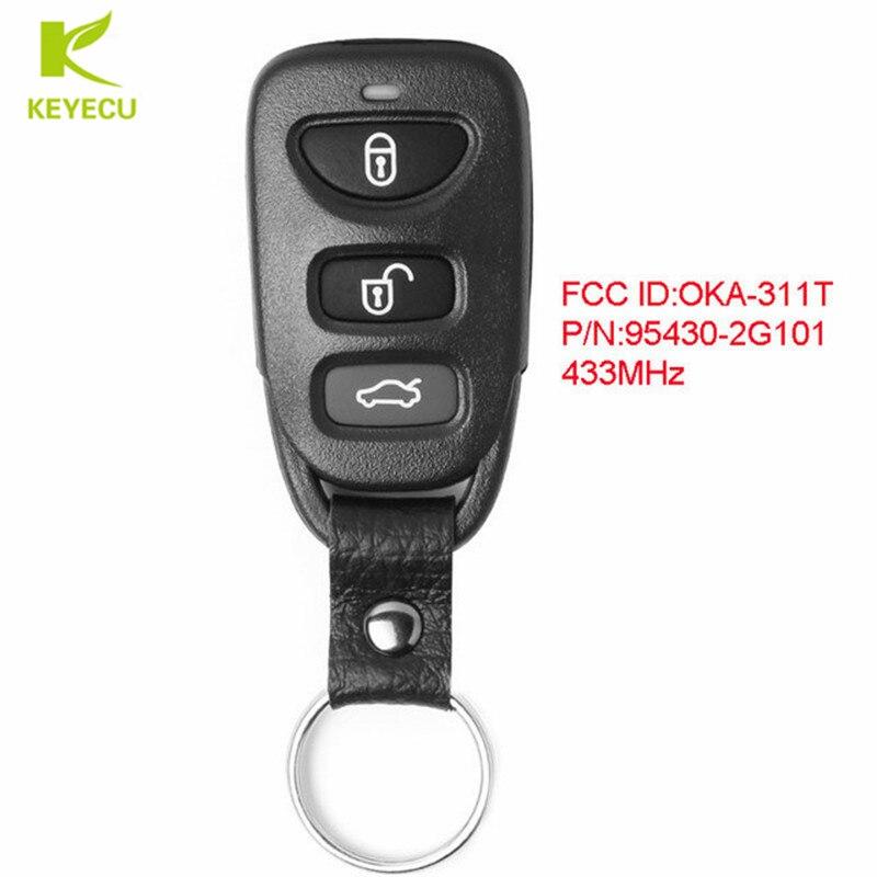 KEYECU Замена обновленный пульт дистанционного управления автомобиля брелок 433 МГц для KIA Optima 2010-2011 FCC ID: OKA-311T, P/N: 95430-2G101