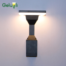 New Arrival Waterproof  IP65 Exterior Wall Lamp Outdoor Bollard Aluminum Garden Porch Light  Yard Path Wall Sconce 12W aluminum solar power post lamp outdoor waterproof landscape corridor porch path light lamp pillar bollard light e27 bulb include