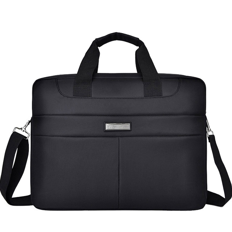 Men Office Briefcase Shoulder Bags Waterproof Business Computer Bag Laptop Large Capacity Male Bag Handle Women Black XA165ZC