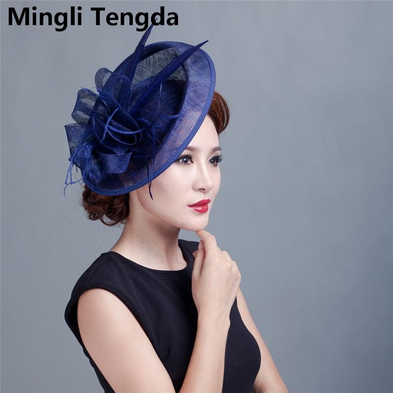 Yarn Headdress Wedding Accessories Banquet Hat Socialite Church Cap Bridal Hat Headdress Mingli Tengda Bibi Mariage Wedding Hat