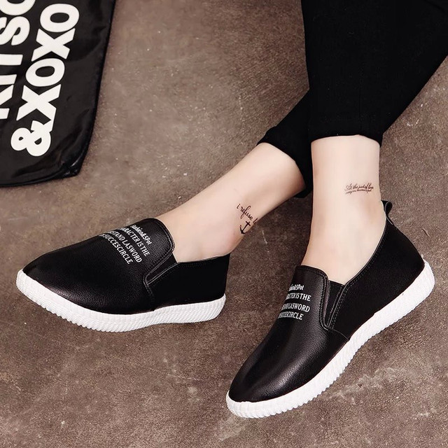 2017 Spring Solid Color Lazy Shoes Round Head White Board Shoes Muffin Flat Student Shoes Casual Shoes Canvas  .DFGD-159
