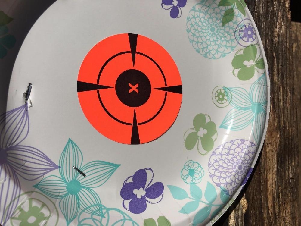 Купить с кэшбэком 3inch 250pcs per roll Targets Adhesive Shooting Targets stickers Targets Neon Orange Self-Adhesive Target Sticker for Shooting