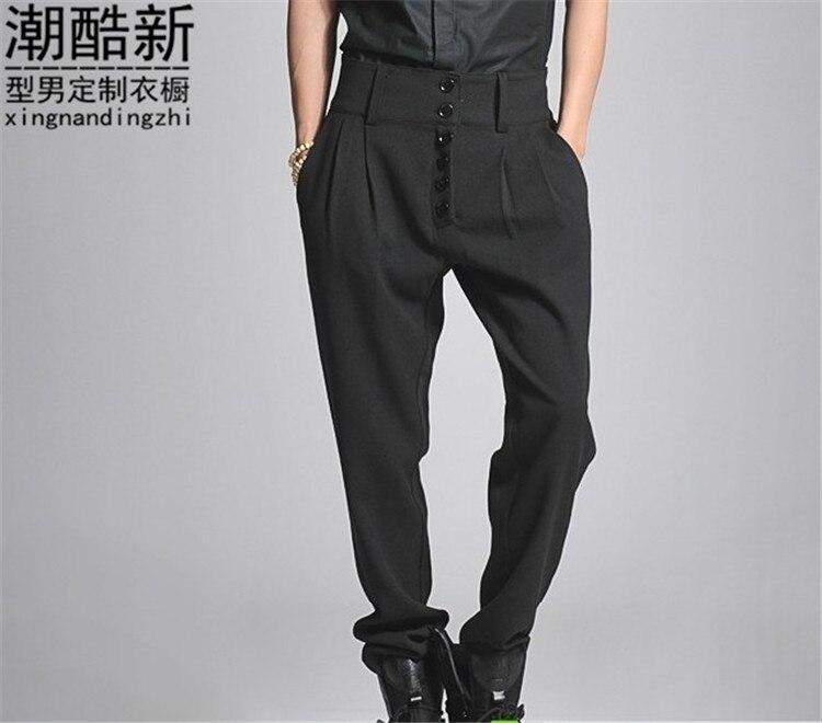 27-44! Большие размеры мальчиков загрузки вырезать джинсы штанах высокой талии шаровары повседневные штаны брюки