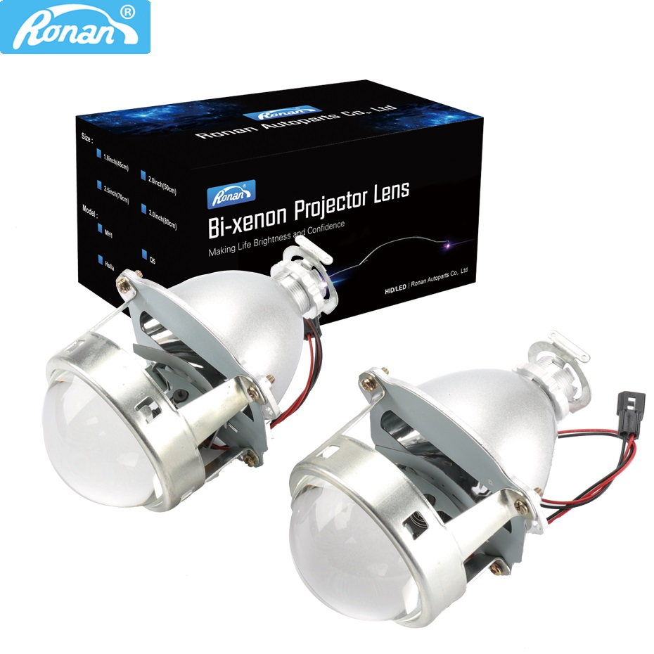 RONAN 3 0 Upgrade full metal Bi xenon Super projector H1 lens car headlight H4 H7
