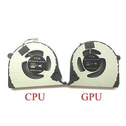 Nowy oryginalny Laptop CPU GPU chłodzenia wentylator do Dell Inspiron G7 15-7000 7577 7588 G7-7588 Notebook wentylator procesora DC5V 0.5A