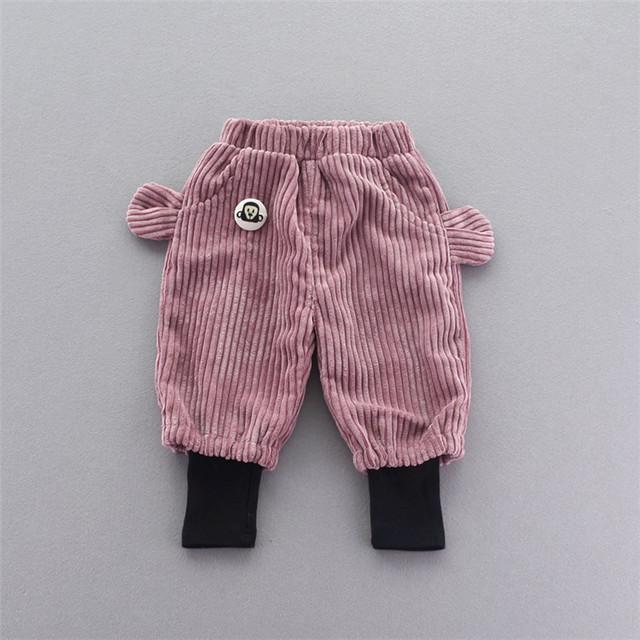 Quente Do Inverno Do Bebê Crianças Crianças Crianças Casual Roupas De Bebe Calças de Veludo Harem Pants Comprimento Total F046