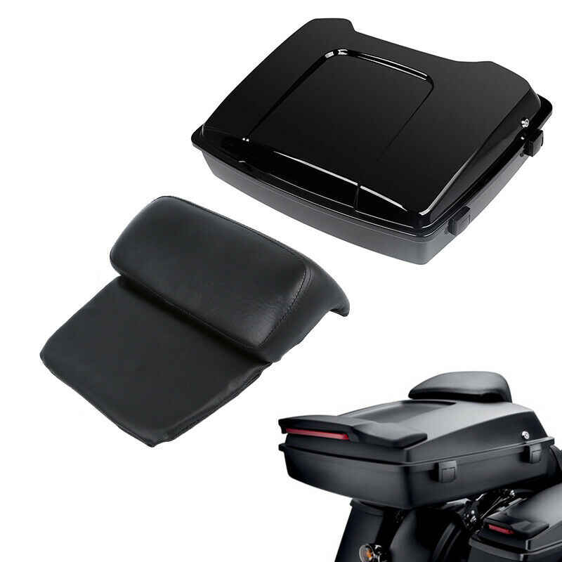 Moto rasoir Pack coffre avec dossier pour Harley Tour Pak Touring Road King Street Road glisse Electra glisse 1997-2013 2012