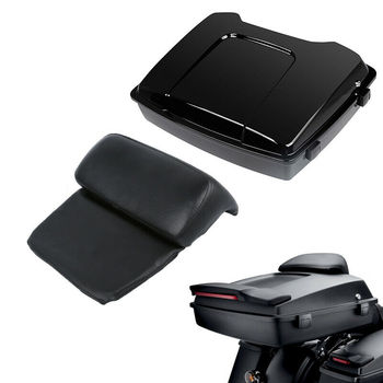 Motorcycle Razor Pack Trunk with Backrest For Harley Tour Pak Touring Road King Street Road Glide Electra Glide 1997-2013 2012 motorcycle painted chopped tour pak pack trunk fit for harley touring road king electra glide flht fltr 1997 2013