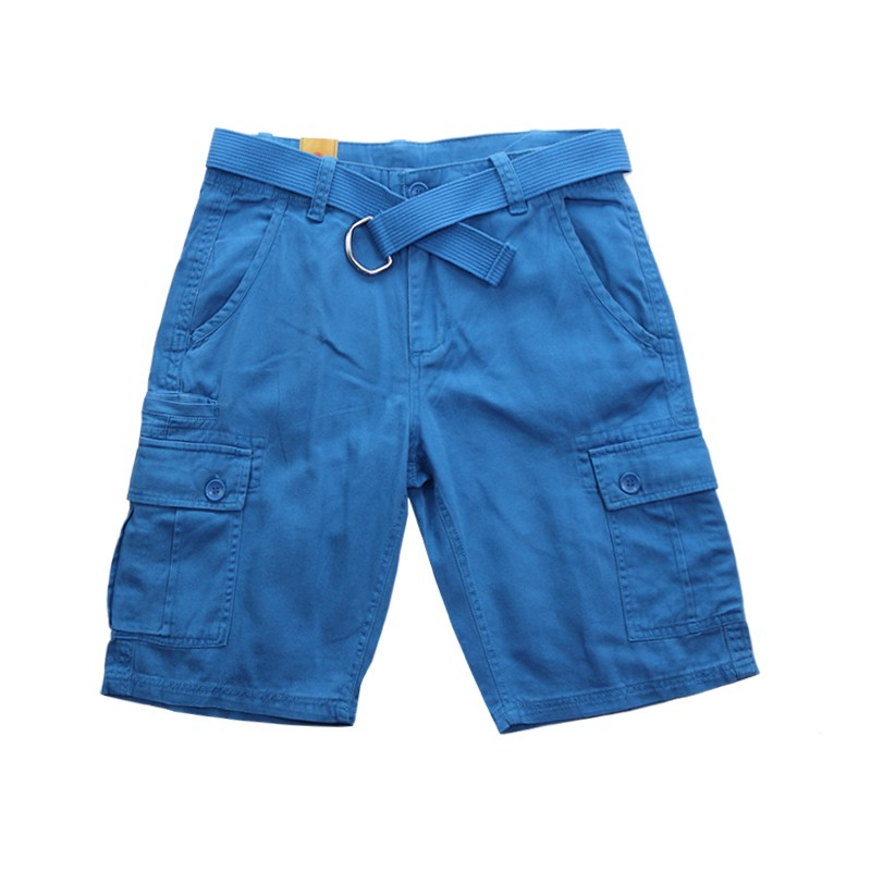 Size 30-42 Summer big men shorts male casual cargo slim cotton shorts mens straight knee-length fashion short trousers 8 colors