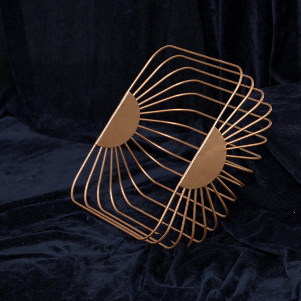 Gold metall Nordic Modernen Magazin Newpaper Speicherobstkorb ...