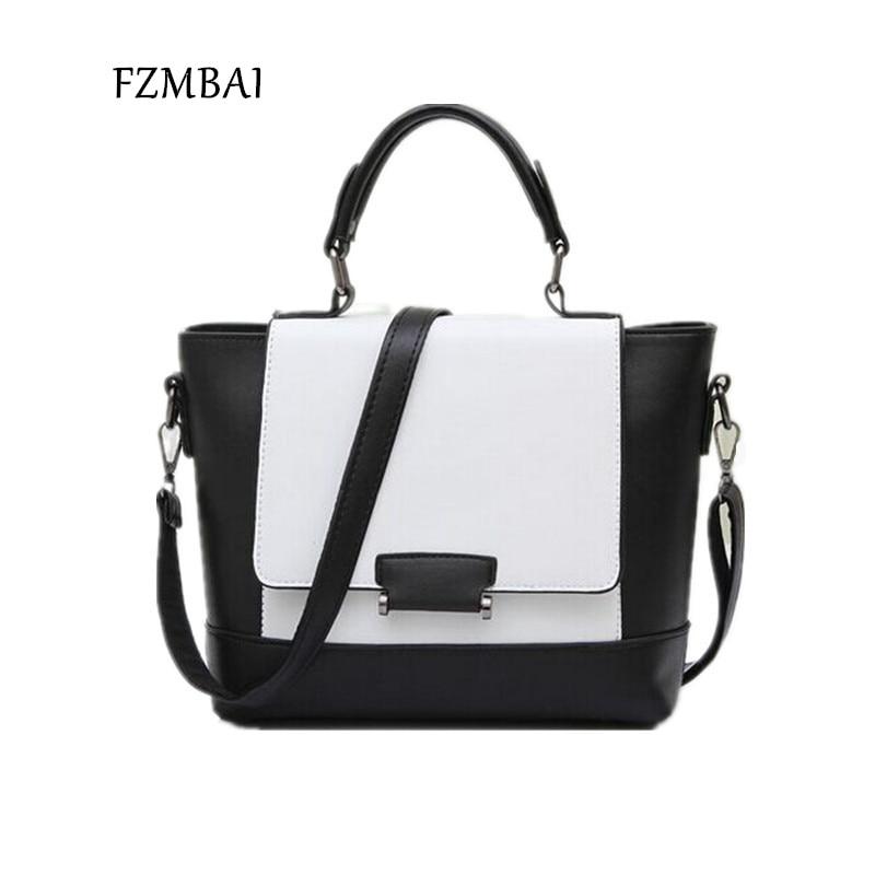 FZMBAI Women Handbag Color-Block Messenger-Bag Small-Bags Female Vintage Fashion Ladies