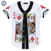 201 73d T Shirts Funny Poker Face 13 White Man Top Tees V Neck Clothing Button