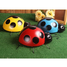 3 Pieces/Set Metal Ladybug Collections Metal Art Hanging Wall 10cm Home