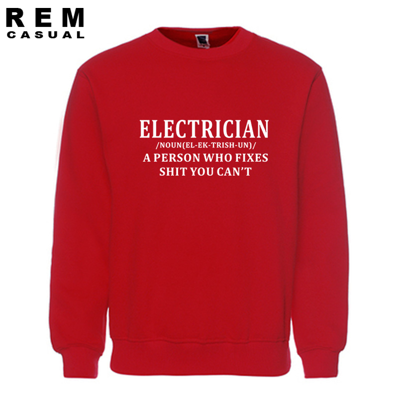 Electrician Fixes Stuff HOODIE noun sparky hoody funny birthday gift present