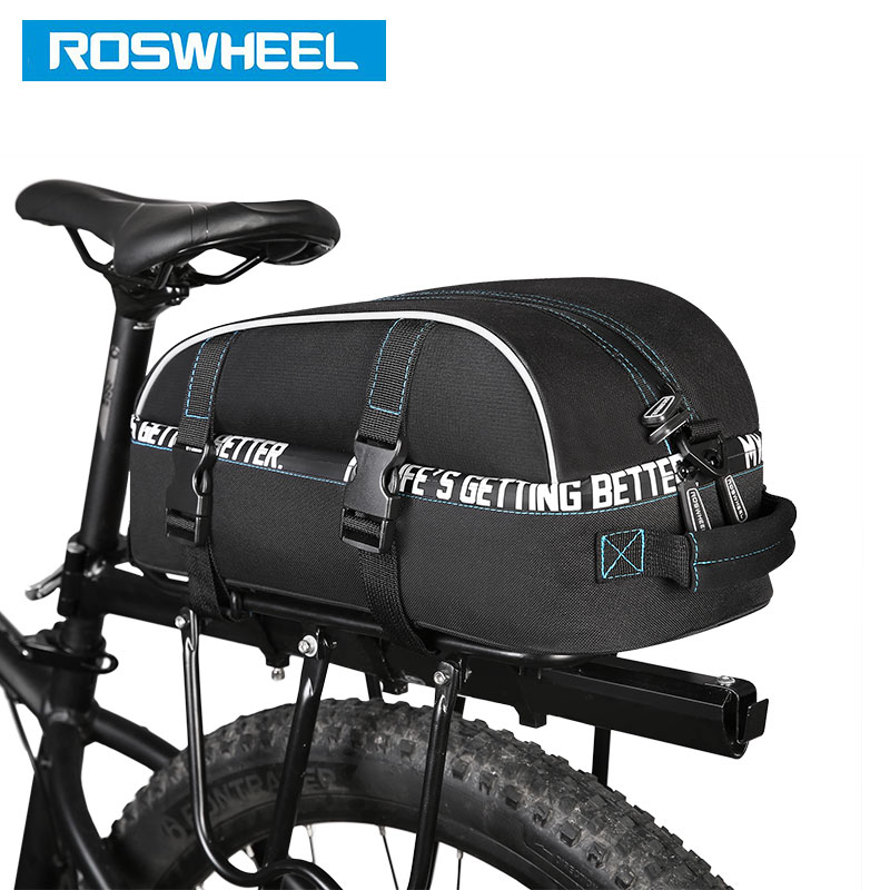 ROSWHEEL New Bicycle Carrier Bag 8L Rack Trunk Double Layer Bike Luggage Pannier Cycling Storage Handbag Shoulder Strip 141416 лампа светодиодная эра led smd bxs 7w 840 e14 clear