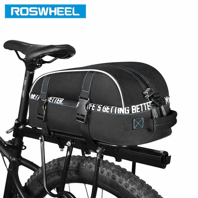 ROSWHEEL yeni bisiklet taşıyıcı çanta 8L raf bagaj çift katmanlı bisiklet bagaj Pannier bisiklet saklama çantası omuz askısı 141416