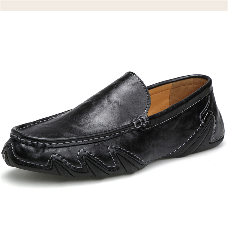 Leather Men Shoes Casual Soft Working Oxford Zapatos Walking Flats Men's Shoes Sale Moccasins Slip On Loafers Cowhide Driving 2017 autumn fashion men pu shoes slip on black shoes casual loafers mens moccasins soft shoes male walking flats pu footwear
