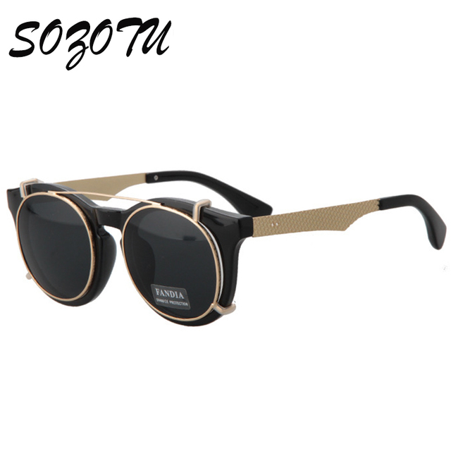 a16c9f2887 SOZOTU Steampunk Goggles Vintage Sunglasses Women Men Sun Glasses For Female  Male Ladies Fashion Brand Designer