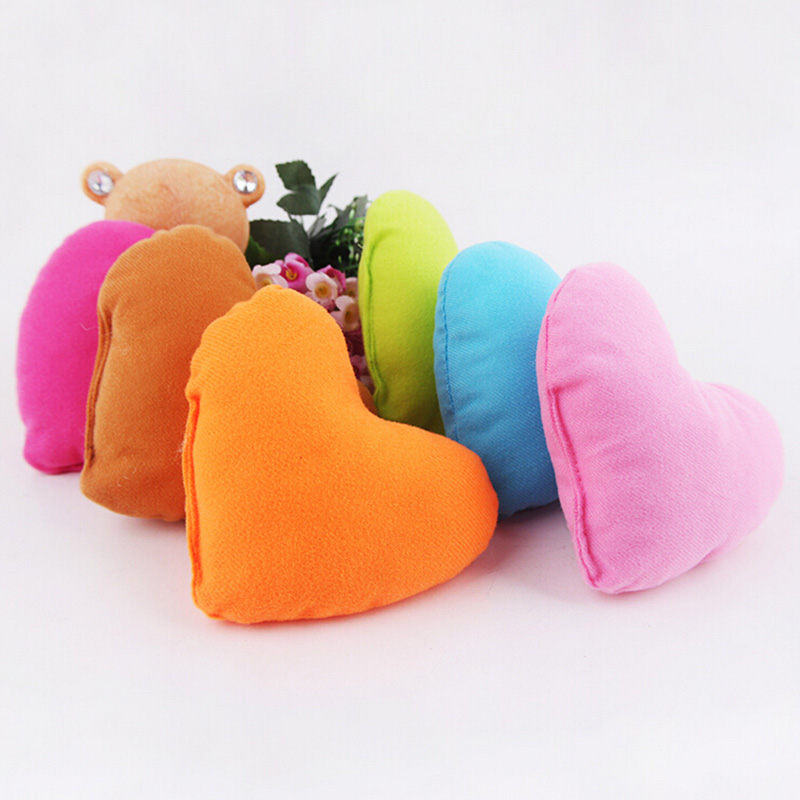 buy 14x12x4cm lovely soft heart shaped pet pillow plush pet dog cat bite toy pillow puppy bed kennel dog toy from reliable pillow blanket